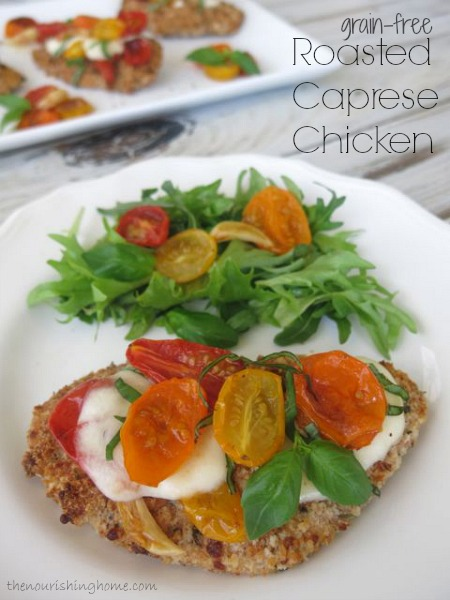Roasted Caprese Chicken (grain-free)