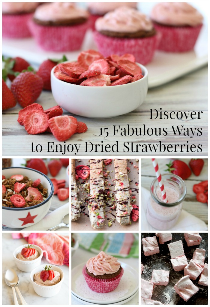 It's a Strawberry Festival here! And guess what? You're invited. Join me to discover 15 Fabulous Ways to Enjoy Dried Strawberries in your favorite recipes!