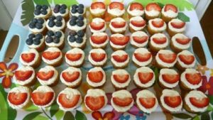 Red White Blueberry Cupcakes