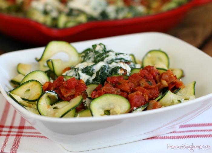 Zucchini Lasagna in Bowl
