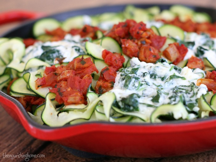 Zucchini Lasagna in Skillet
