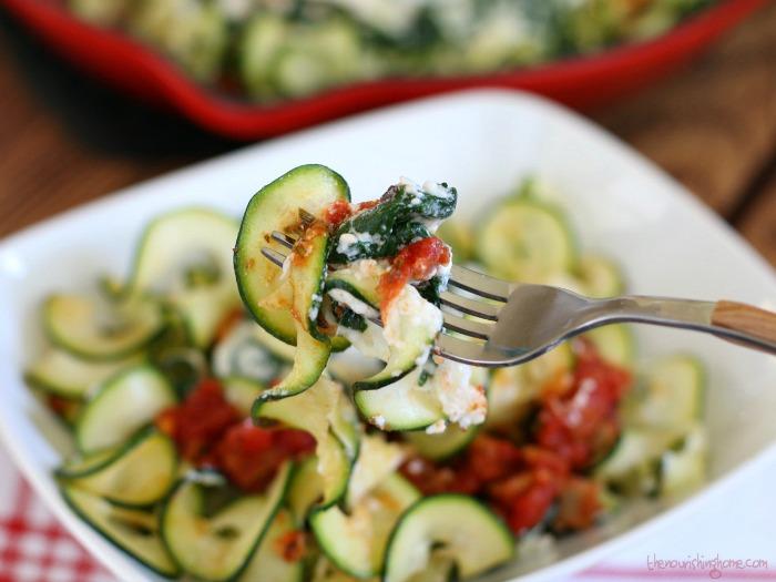 Zucchini Lasagna on Fork