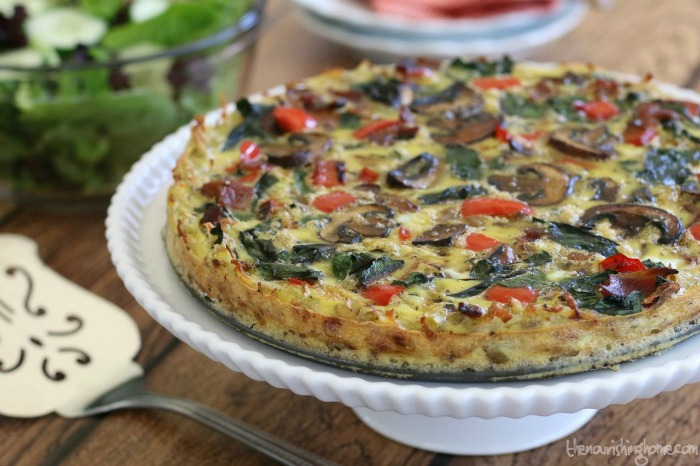 Veggie Quiche wHash Brown Crust Horiz