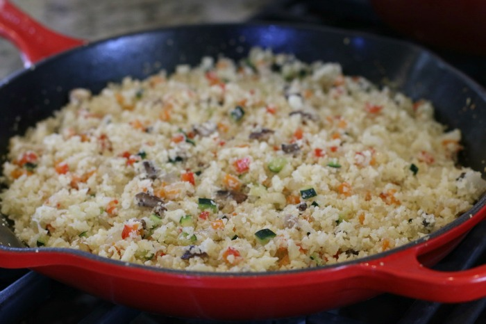 This Veggie Confetti Cauliflower Rice recipe is truly a delicious complement to your favorite grilled meats, poultry and seafood dishes.
