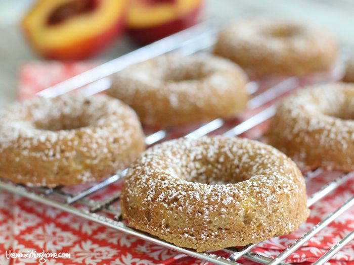 This scrumptious gluten-free, grain-free Peach Cobbler Donut recipe easily comes together to create a delicious cake-like doughnut, or light & fluffy muffin!