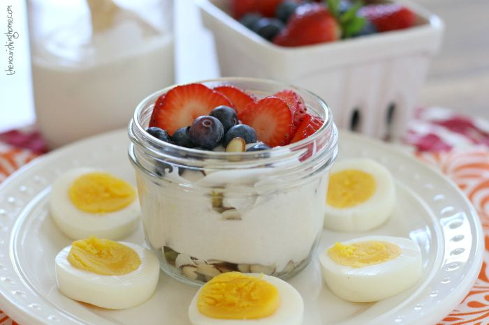 This easy Grain-Free Summer Berry Yogurt Parfait makes the perfect breakfast-on-the-go, lunchbox side dish, or afternoon snack!
