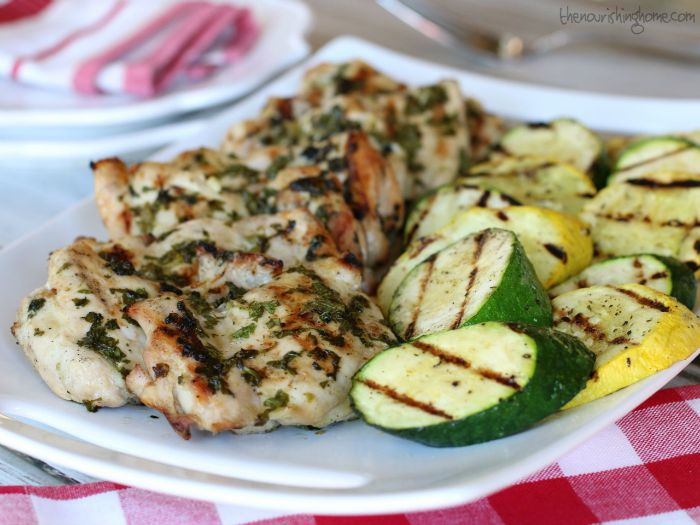 This super easy Cilantro Lime Chicken recipe is my new go-to favorite. I love that I can make the marinade ahead of time, which means even faster turn-around time on busy weeknights! I also throw some veggies on the grill at the same time for a simple side dish that complements the chicken perfectly and adds a boost of nutrition!