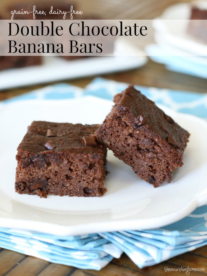Double Chocolate Banana Bars Pinterest
