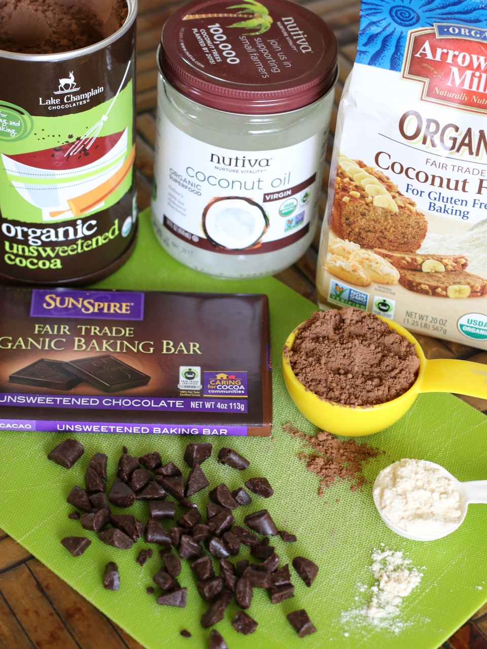 These irresistible Double Chocolate Banana Bars are made with pure fair-trade ingredients and are certain to become a family favorite!
