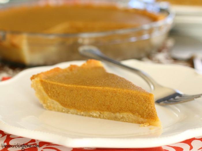 Pumpkin Pie with Fork