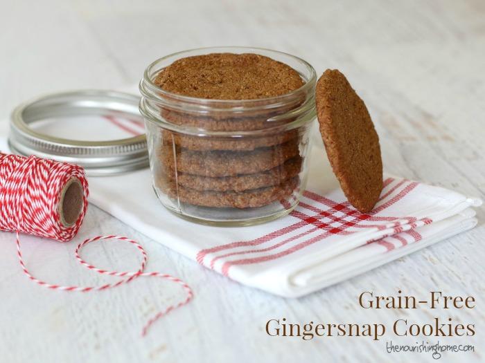 GF Gingersnap Cookies