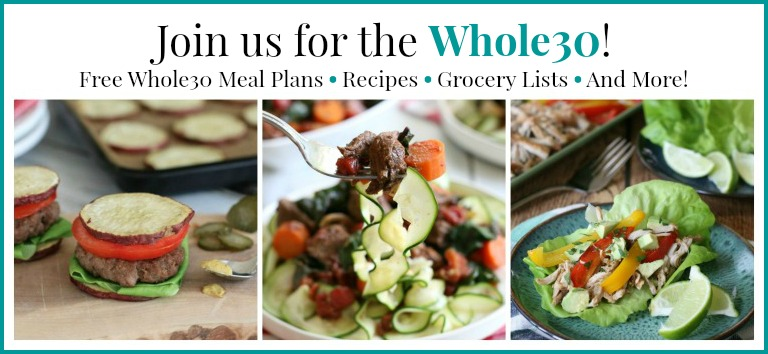 Take charge of your health with free Whole30 meal plans, recipes, grocery lists and more with The Ultimate Whole30 Success Guide!