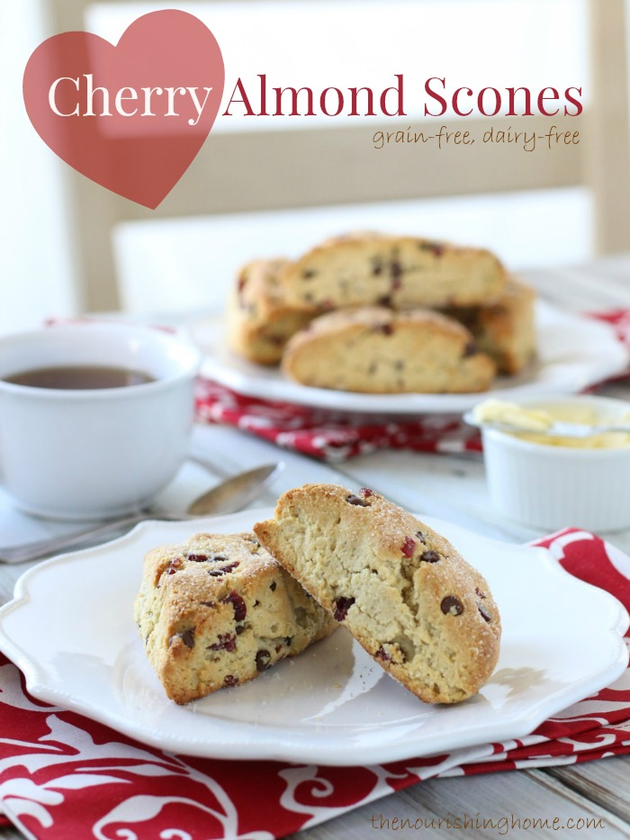 These delicious cherry chocolate chip scones are the perfect treat to enjoy with a steamy cup of tea or coffee.