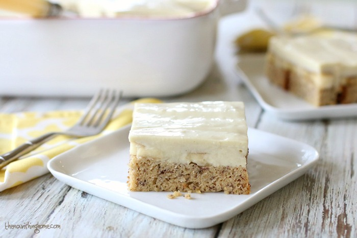 When life goes bananas, make Banana Pudding Cake! So creamy, dreamy and full of lightly sweet banana goodness, it's certain to make your family smile! Bonus that it's grain free and dairy free!