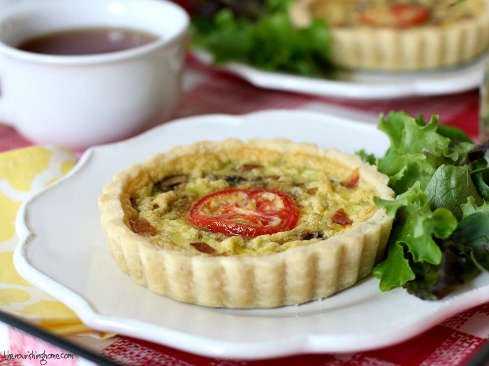 These adorable little BLT Quiche Tartlets may be small, but they're packed with hearty flavor and a good dose of whole food nutrition!