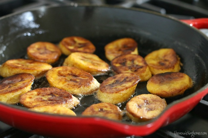 These scrumptious cinnamon dusted fried plantains are a staple around here. They're rich in nutrients and flavor making any meal a sweet and savory delight!