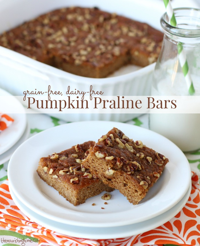 Pumpkin praline bars from everyday grain free baking aloadofball