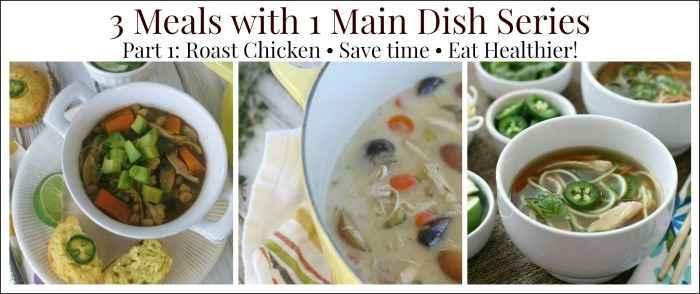 Batch Cooking: 3 Meals with 1 Main Dish