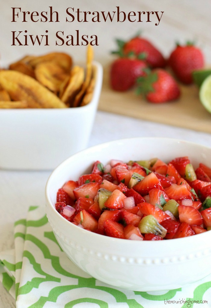 This scrumptious Fresh Strawberry Salsa is the perfect balance of sweet and spicy. Plus, it comes together in less than 10 minutes!