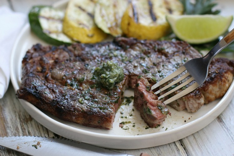 This Grilled Ribeye Steak with Cilantro Lime Chimichurri only takes 30-minutes to make, and will have everyone raving about it with each delicious bite! Bonus points for being a delicious option for Whole30!