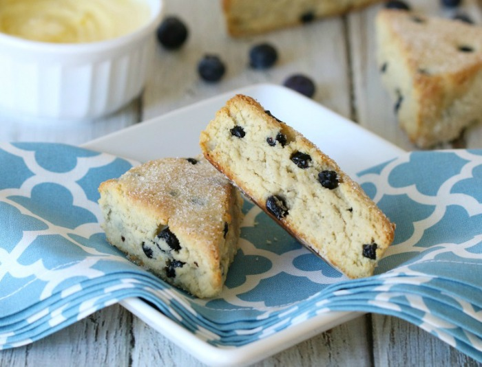 Almond Flour Blueberry Scones {Grain-Free, Dairy-Free Option}