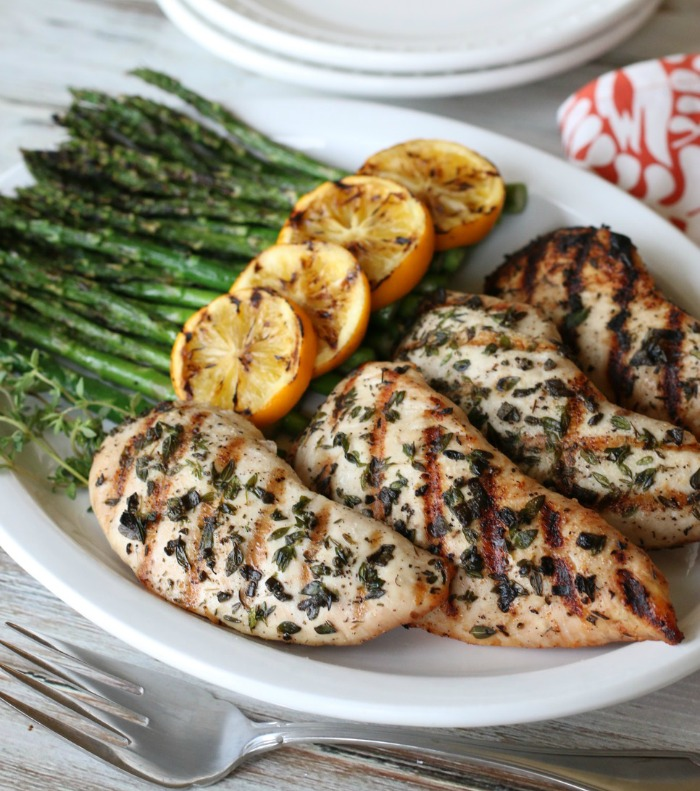 These easy Grilled Herb Turkey Breasts offer you & your family a change to the usual chicken dinner. So easy to make for a weeknight dinner!