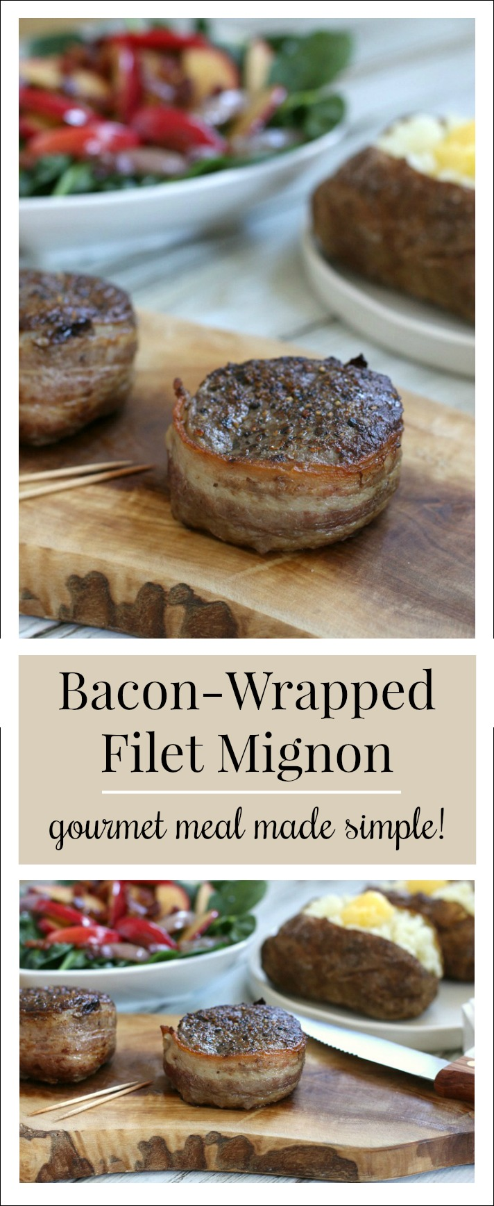 A perfectly seared, bacon-wrapped filet mignon is a delicious delicacy that's deceivingly simple to prepare! Make any night a special occasion!