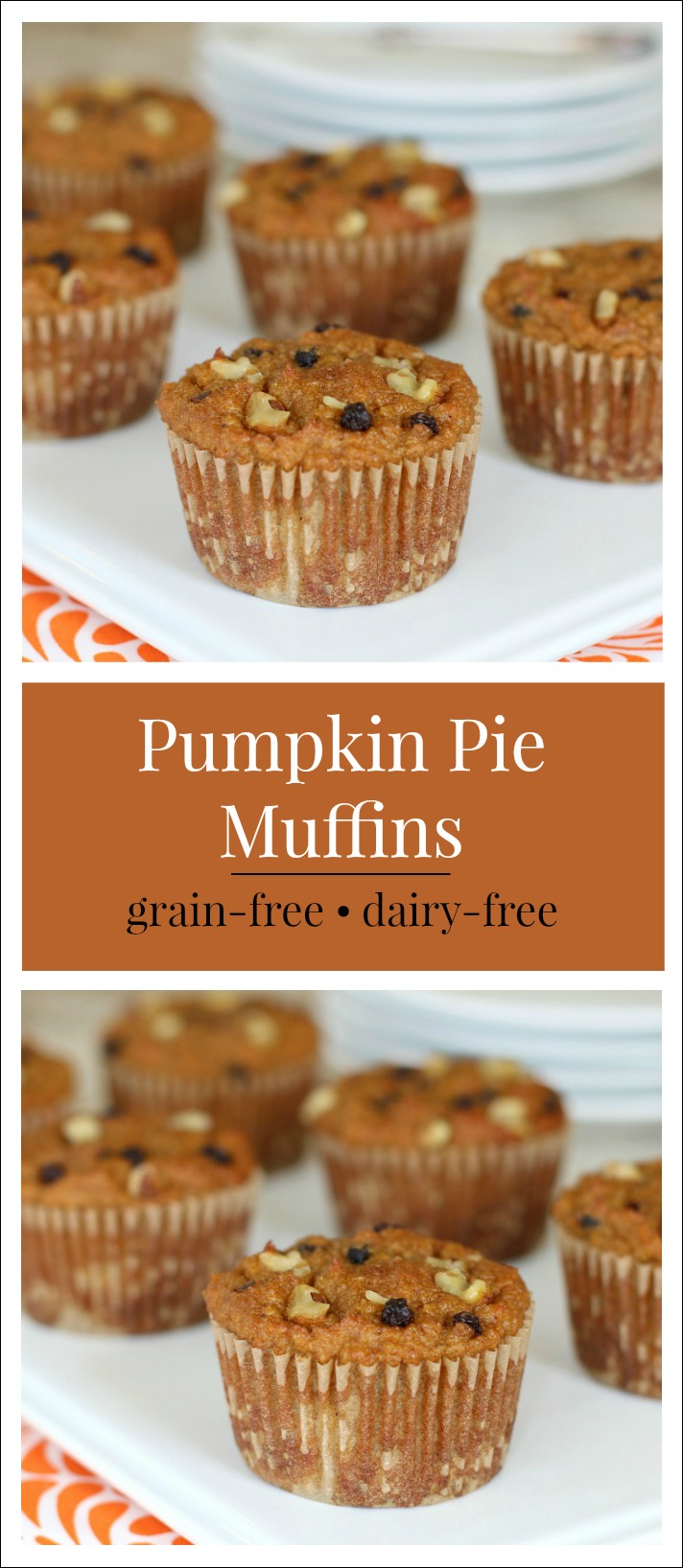 Enjoy some delicious and healthy Fall baking adventures like these scrumptious grain-free, dairy-free Pumpkin Pie Muffins.